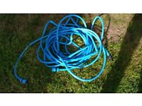 Blue Garden Hose (Good Condition, No Leaks) Attachment Included