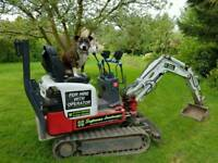 Micro Digger Hire with operator.