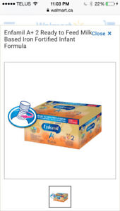 Enfamil A+2 Ready to Feed Cases + $150 in Enfamil Coupons
