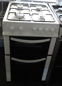 O553 white logik 50cm gas cooker comes with warranty can be delivered or collected