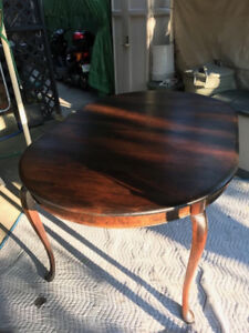 Solid cherry wood dining room table