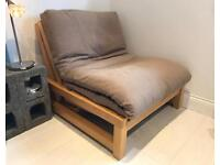 Single Seater Solid Birch Sofa Bed