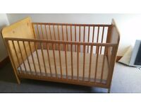 JOHN LEWIS COT BED WITH TEETHING RAILS