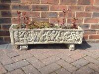 Ornate garden trough