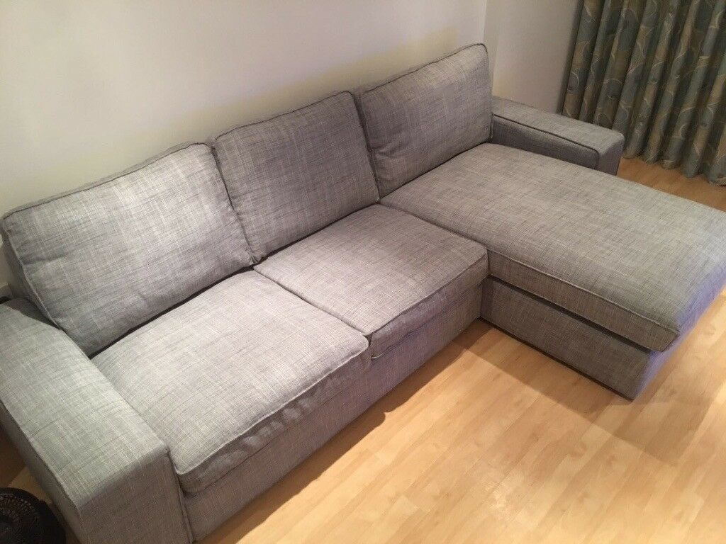 Ikea kivik sofa 8 month old in isunda grey like brand for Kivik chaise ikea
