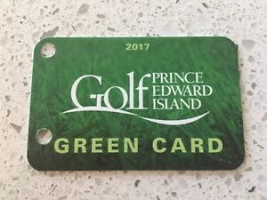 Golf PEI - Green Card for sale