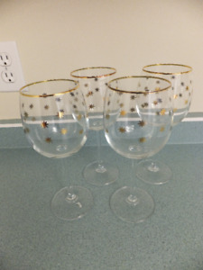 FOR SALE Bohemian Crystal (gold accent). Made in Czech Republic.
