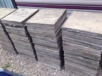 19 Patio Slabs 450mm x 450mm - Revin - Buff - Paving Pavers Shed Base Walkway Garden