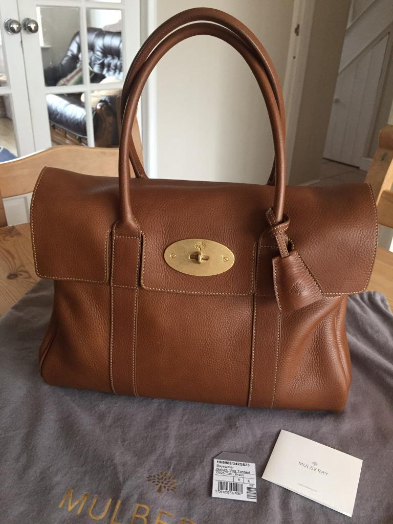 Brand New Mulberry Bayswater in Oak natural leather with receipt.