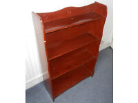 Hardwood Bookcase, Display Shelves, Ideal to re-paint