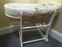 Moses Basket with stand (John Lewis)
