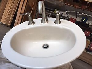 Kohler Sink with Moen Tap and Drain Assembly - $100