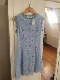 Blue summer dress/ tea dress / size S BNWT
