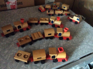 Toy wood train,