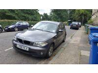 Quick Sale BMW 1 Series 1.6SE. Black Leather Interior 11 Months MOT.