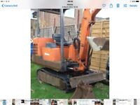 Mini digger (pel job)