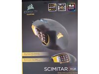 Corsair SCIMITAR RGB Optical MMO Gaming Mouse with 12 Programmable Mechanical Buttons