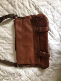 Woodford reserve real leather satchel bag rare