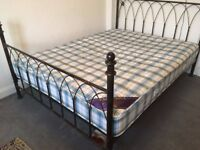 Homebase king bed/ with quality mattress almost new, together £200