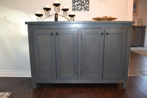 Charcoal Shaker-Style Cabinet