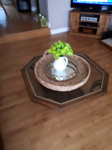 Retro coffee table and 2 side tables