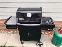 Weber Spirit E210 BBQ with 13 Kg nearly full Calor Gas
