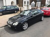 Mercedes Benz C200 Coupe, Black, Panoramic Roof EVO model