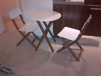 beautiful JL small folding table and chairs in pristine condition can deliver