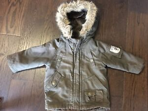 Boys winter jacket size 12-24 months, double layer