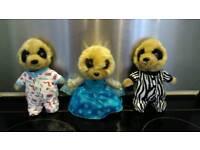 Meerkats toys, teddies