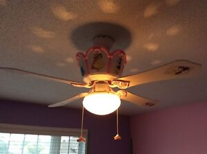 Princess disney ceiling fan