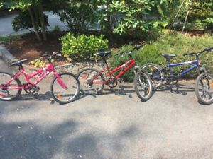 Boy and girl bikes for sale