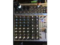 Phonic mm1202a 12 channel analog mixer. Sound desk for dj, band, recording etc