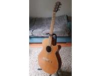 Fender JG26SCE Mini Jumbo Natural Acoustic Electric Guitar