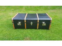 Gorgeous antique storage trunk/ coffee table £60