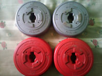 Dumbbells 2KG X4 With Bar and Spinlock