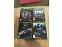 Evolve, Assassins Creed Syndicate, Forza 6, need for speed xbox one.