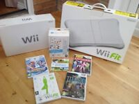Wii bundle - games console, games, balance board and accessories