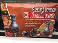 Brand new BBQ cast iron chiminea £40