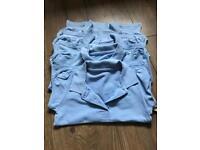 School uniform blue polo shirts size 4-5 years
