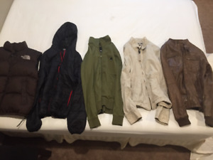 Jackets/ Vest-The North Face, Zara Man, Liquid Force, Bench, A&F