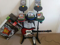 Drums, Guitar and Microphone for XBox 360