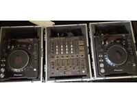 PIONEER CDJ1000mk3 x2 plus PIONEER DJM600 bundle