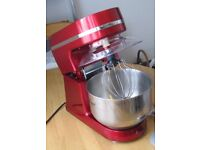 morphy richards red food mixer