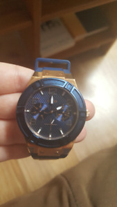 Guess Blue & Rose Gold Watch for sale