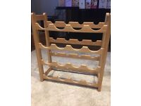 Wooden 16 bottle wine rack