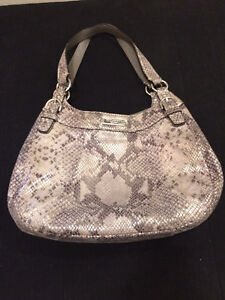 AUTHENTIC COACH SNAKESKIN EMBOSSED LEATHER HOBO HANDBAG PURSE