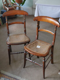 """Two Victorian """"cane seated"""" chairs"""