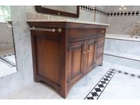 Wooden Bathroom Unit with Marble Top