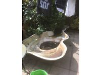 Fibreglass fish pond
